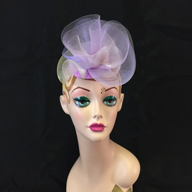 Lilac & Lavender Fascinator- Wedding, Evening, Races, Special Occasion Headpiece