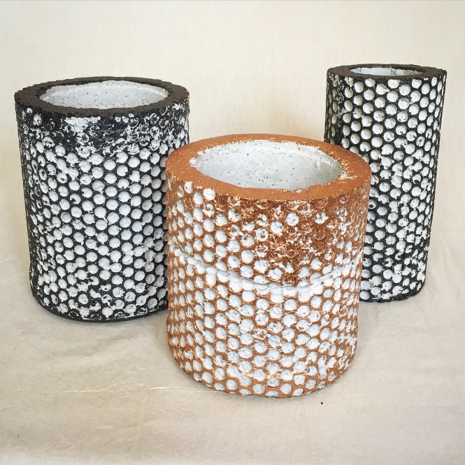 Small BubbleWrap Planters and Vase